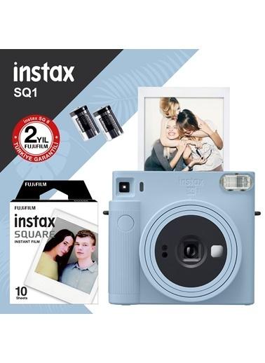 Fujifilm Instax SQ1 Buz Mavi Fotoğraf Makinesi ve 10lu Kare Film Mavi